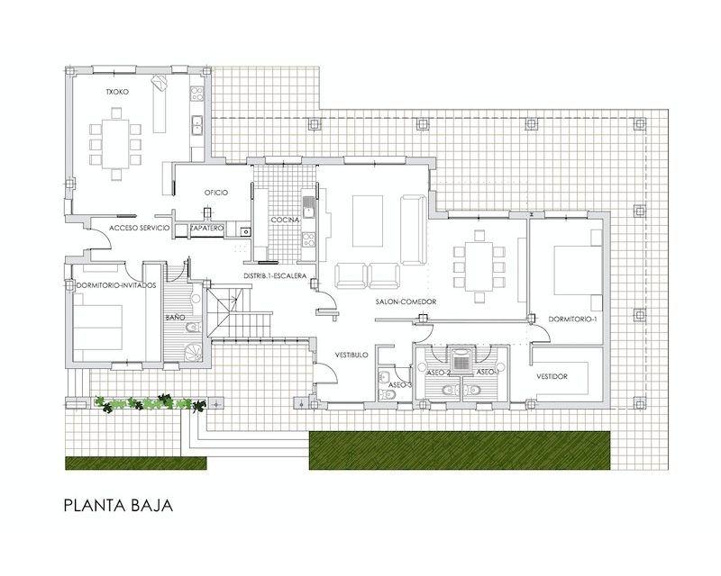 Arquitecto vitoria gasteiz ram n mtez lecea montxo - Viviendas unifamiliares planos ...